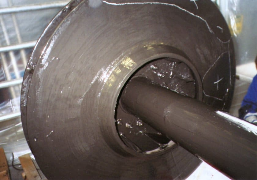 MaxCeram 500 high temperaturee epox y novolac coating used to protect a chemical pump from erosion and chemical attack