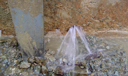 Leak sealing repair mortar